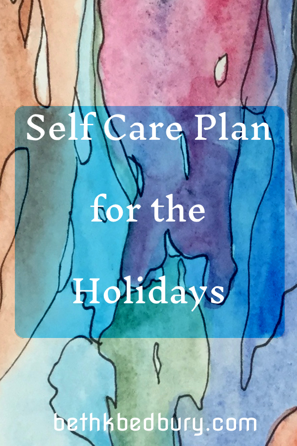 Self Care Plan for the Holidays