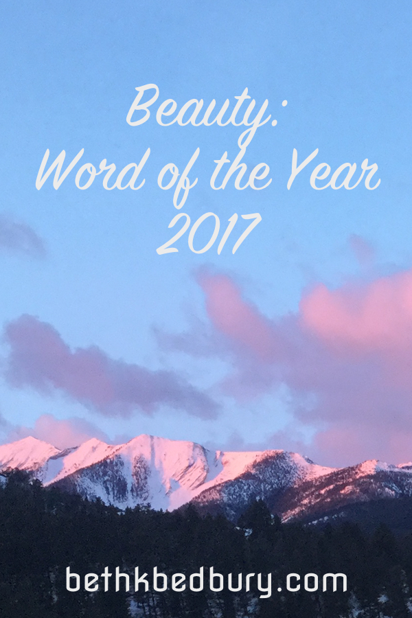 Beauty: Word of the Year 2017