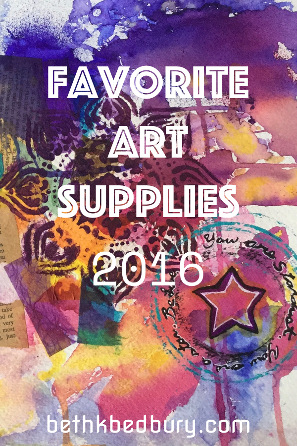 Favorite art Supplies 2016