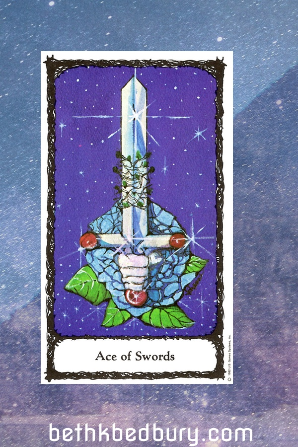 Three Cards The Ace of Swords