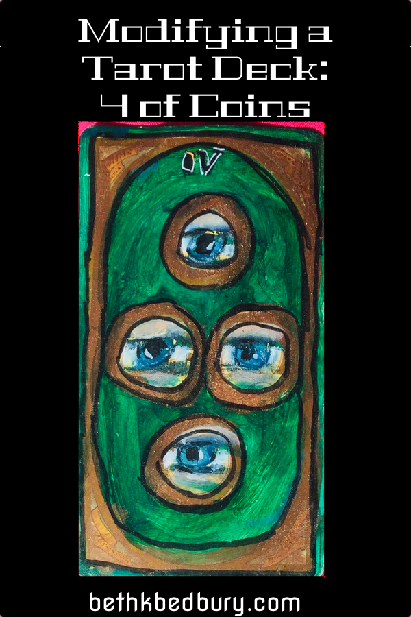 Myk the Myomancer and Another Modified Tarot Card